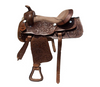 Designer Dark Leather Saddle