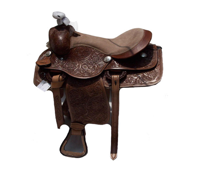 Dark Leather Roper Saddle