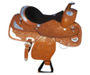 Fancy Silver Equitation Western Show Horse Saddle