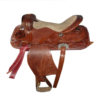 Hand Carved Western Barrel Saddle