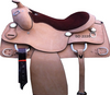 Hand Carved Brown Western Saddle