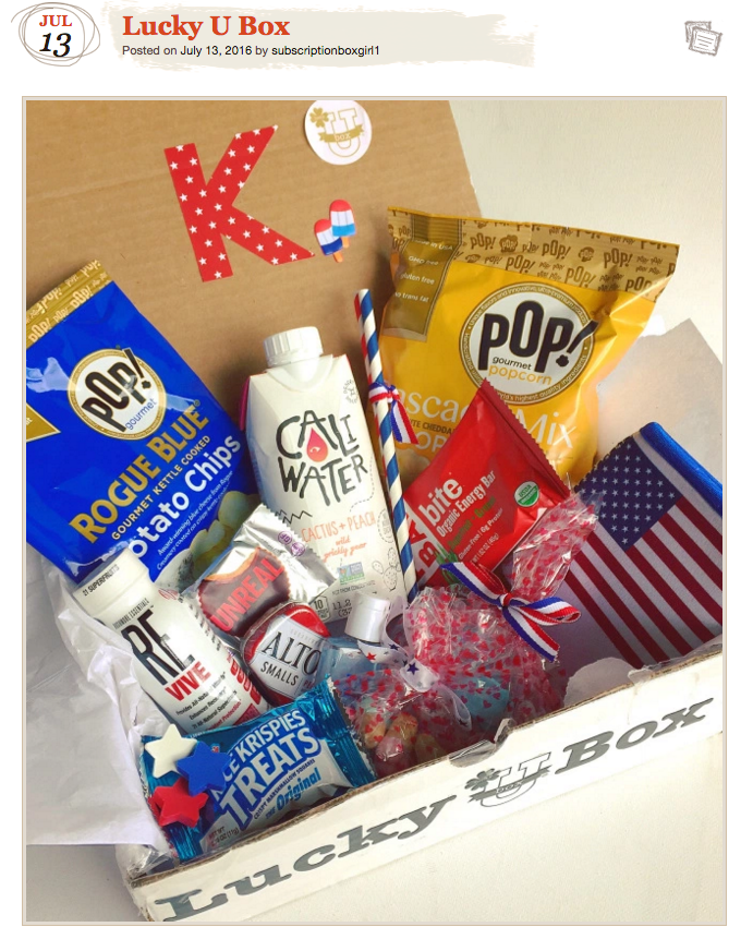 Subscriptiongirl gives rave reviews of July Patriotic Box