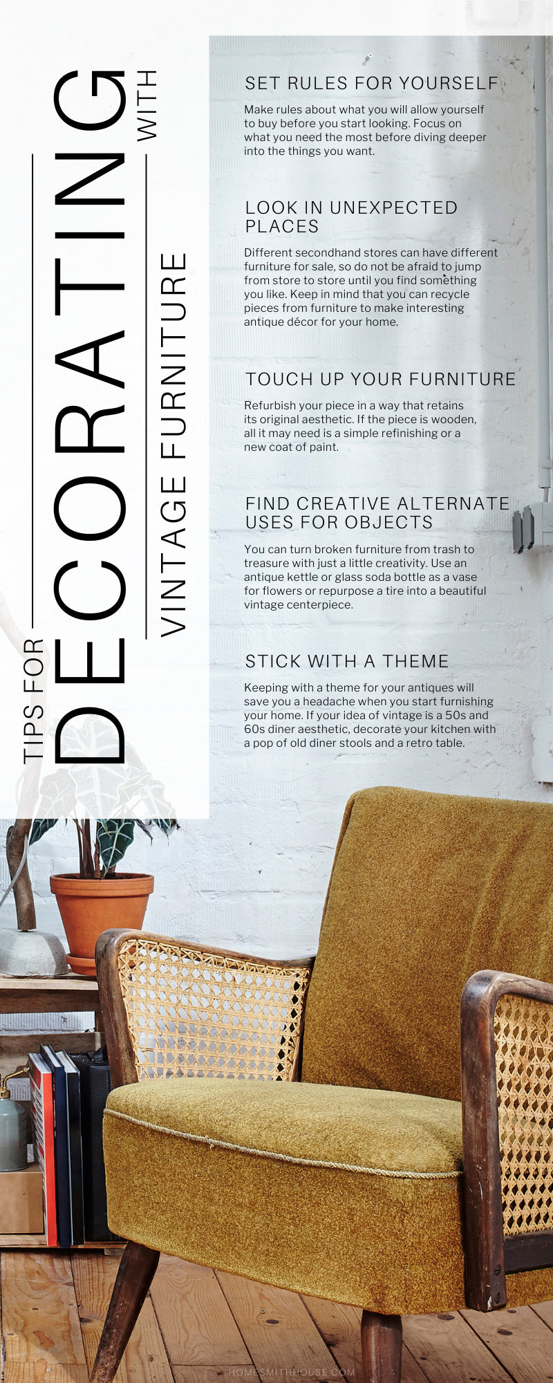 Tips for Decorating With Vintage Furniture