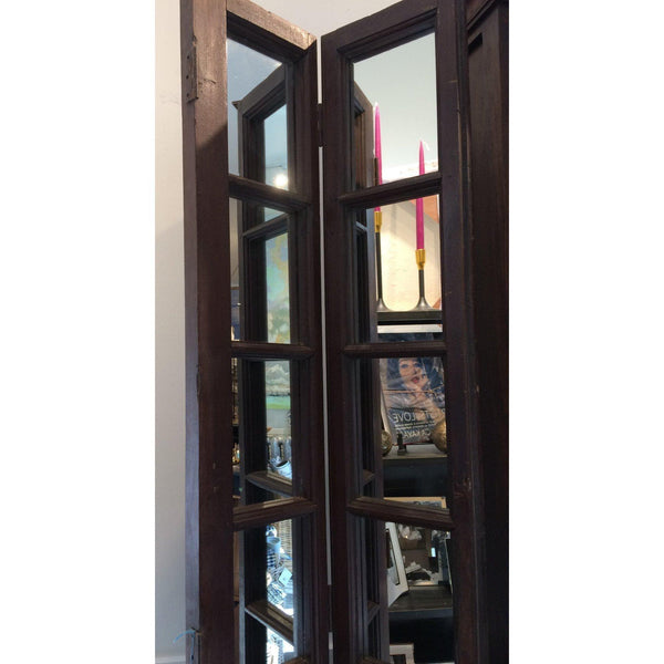 2-Panel Antique Mirrored Egyptian Doors - Home Smith