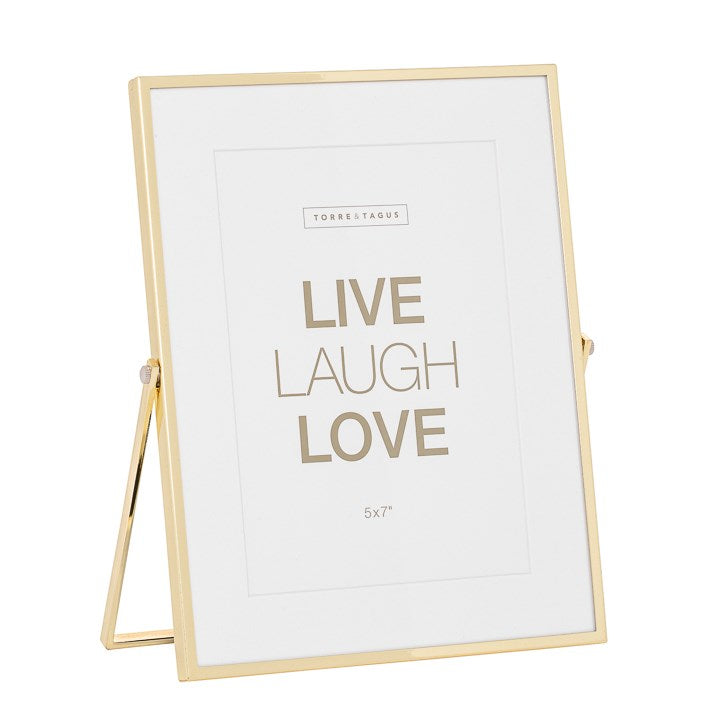 Easel Gold Trim with Matte Photo Frame - Home Smith