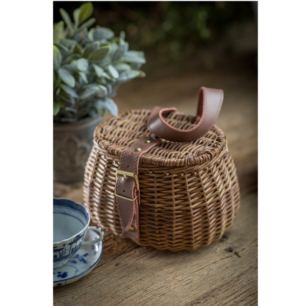 Small Wicker Fishing Basket - Home Smith