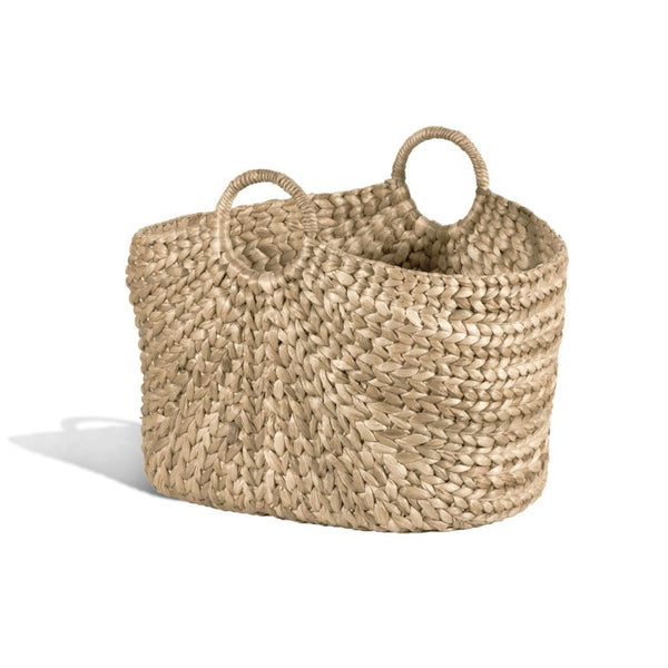 Braided Side Handle Oval Basket - Home Smith