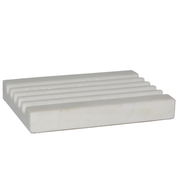 White Marble Soap Dish - Home Smith