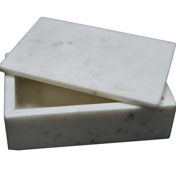White Marble Box - Rectangle - Home Smith