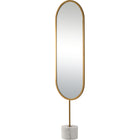 Taio Full Length Iron Mirror with Marble Base - Home Smith