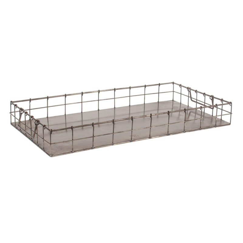 Iron Rectangular Tray - Home Smith