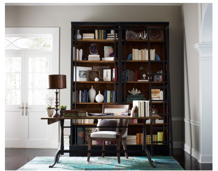 Ivy Matte Black Iron PineBookcase - Home Smith