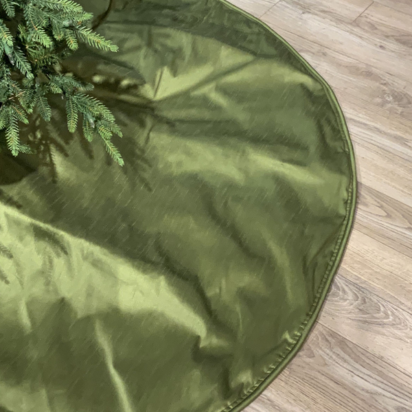 Dupion Tree Skirt in Pine Green - Home Smith