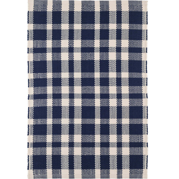 Tattersall Indigo Indoor/Outdoor Rug - Home Smith