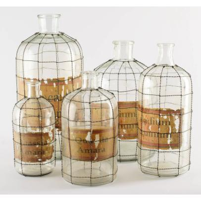 Andrina Glass Bottles - Home Smith