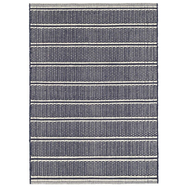 Archer Navy Woven Cotton Rug - Home Smith