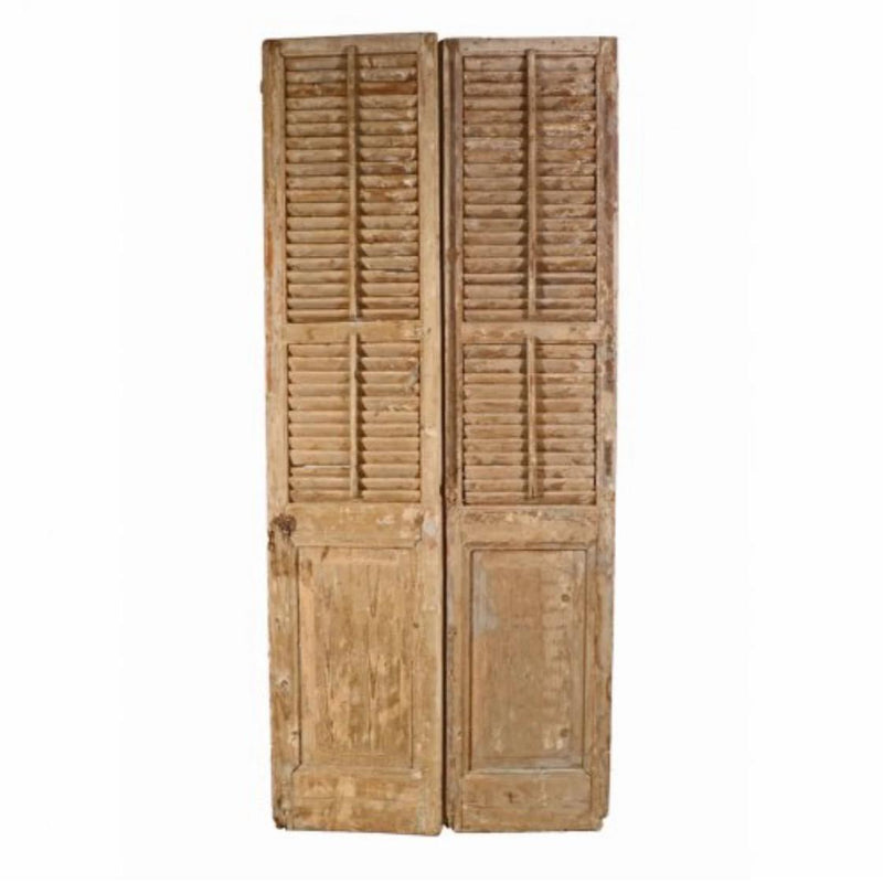 Architectural Pair of Salvaged Shutters - Home Smith