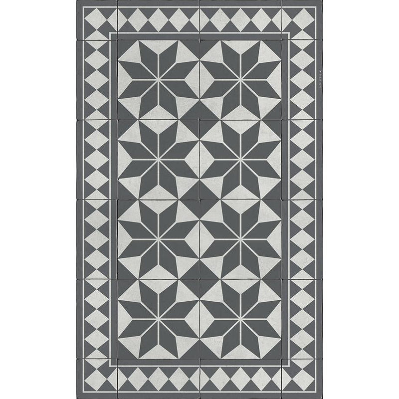 Beija Flor Gothic Floor Mat - Grey-Beija Flor-Home Smith