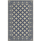 Beija Flor Sofi Floor Mat in Navy-Vinyl Mats-Home Smith
