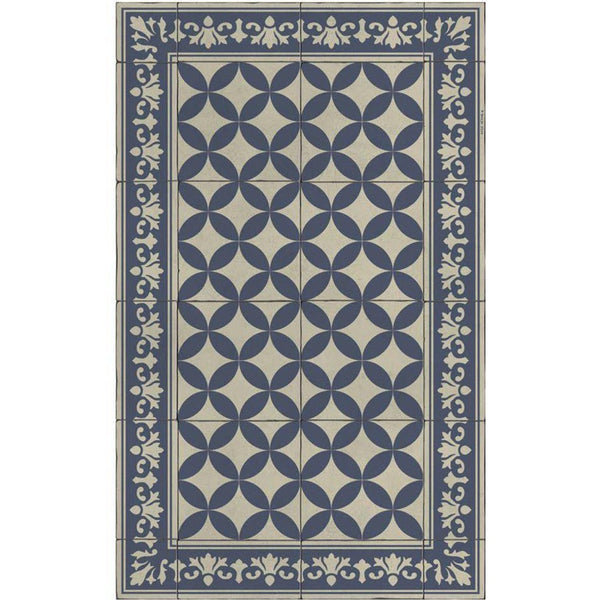 Beija Flor Sofi Floor Mat in Navy-Beija Flor-Home Smith