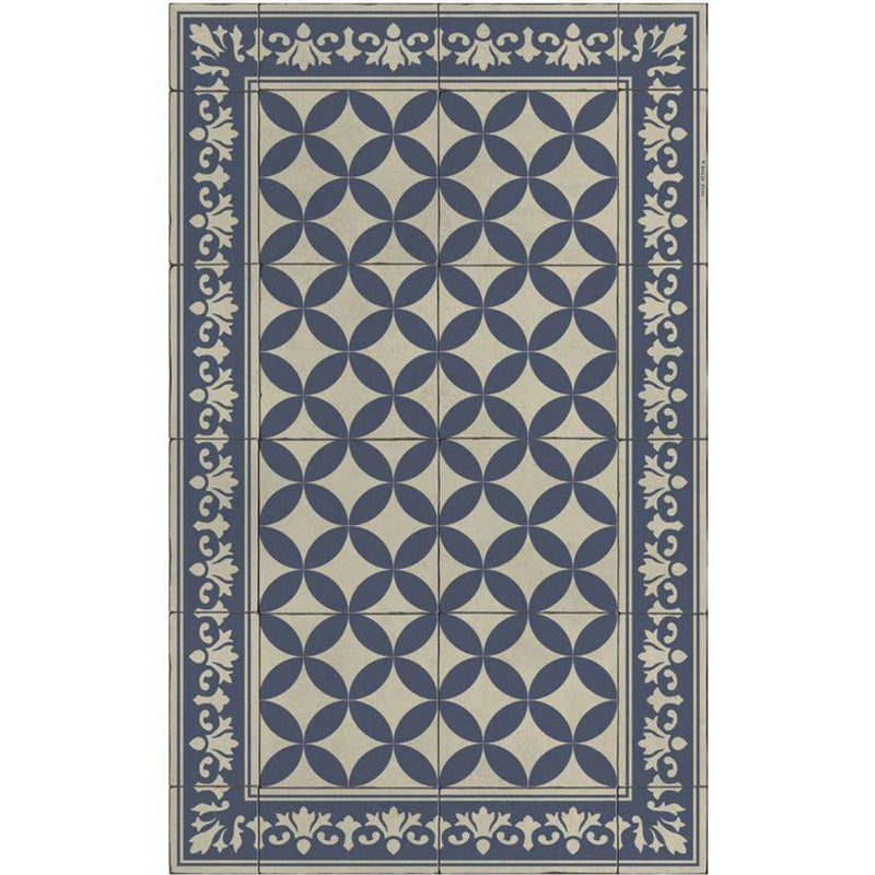 Beija Flor Sofi Floor Mat in Navy - Home Smith