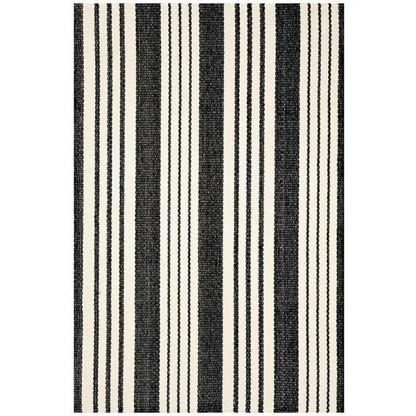 Birmingham Black Woven Cotton Rug - Home Smith