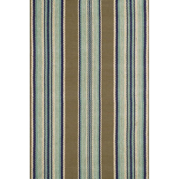 Blue Heron Stripe Indoor/Outdoor Rug-Dash & Albert-Home Smith