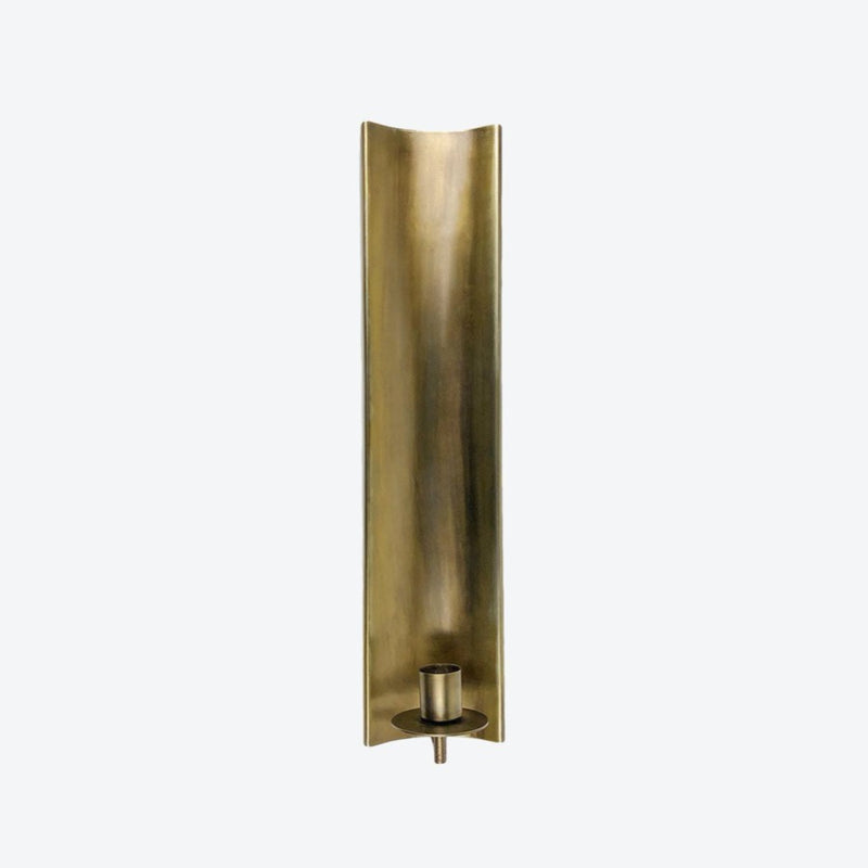 Brass-Plated Channel Taper Wall Sconce - Home Smith