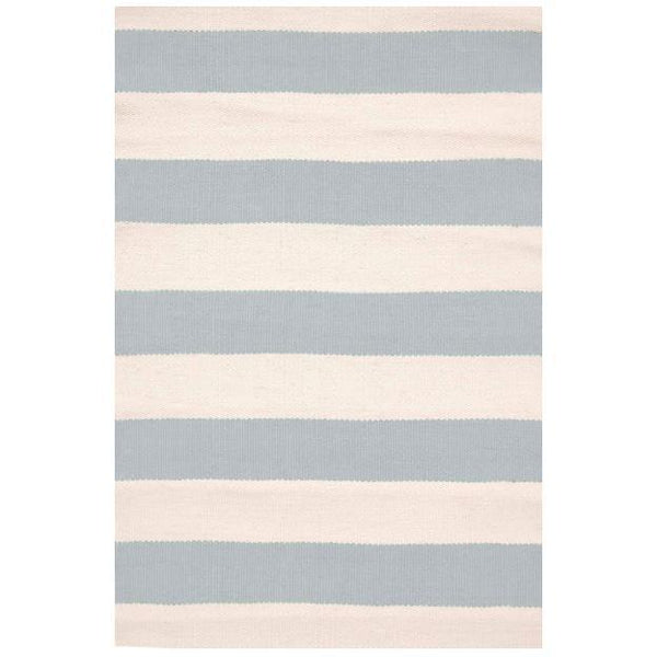 Catamaran Stripe Light Blue/Ivory Indoor/Outdoor Rug-Dash & Albert-Home Smith