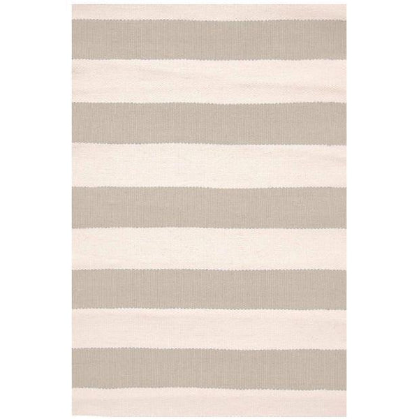Catamaran Stripe Platinum/Ivory Indoor/Outdoor Rug-Dash & Albert-Home Smith