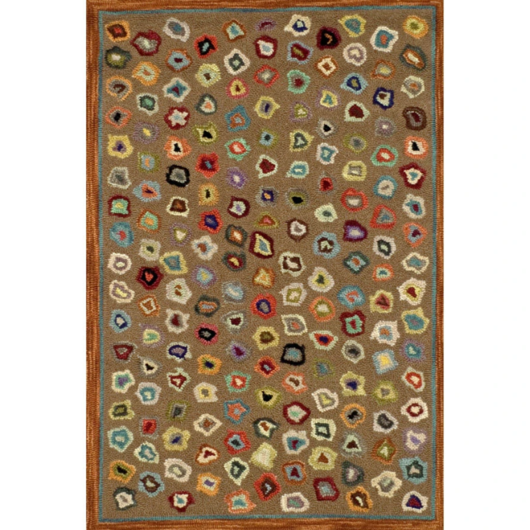 Cat's Paw Brown Micro Hooked Wool Rug - Home Smith