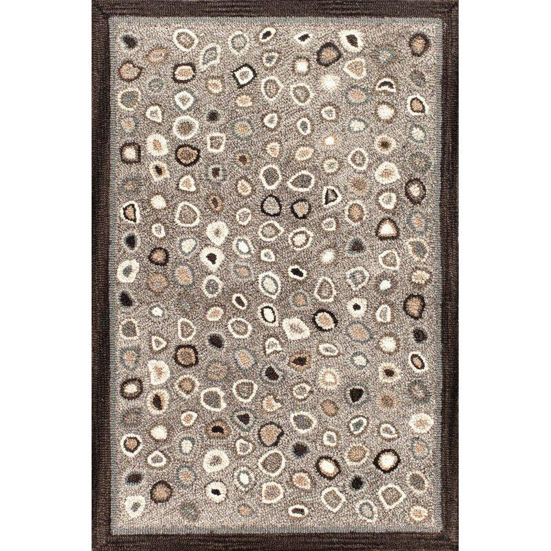 Cat's Paw Grey Micro Hooked Wool Rug - Home Smith