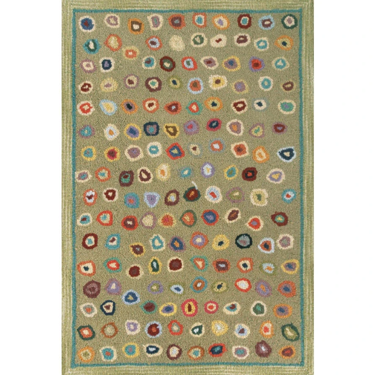 Cat's Paw Sage Micro Hooked Wool Rug - Home Smith