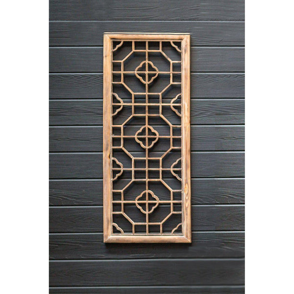 Chinese Inspired Rectangular Wooden Screen - Home Smith