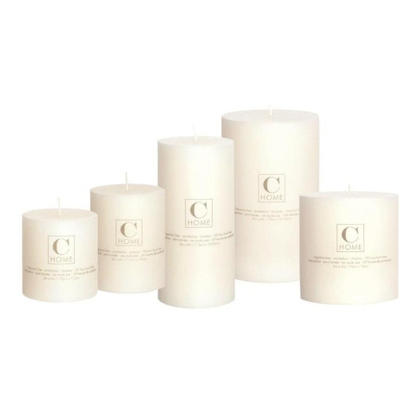 Classic Ivory Pillar Candles-Canfloyd-Home Smith