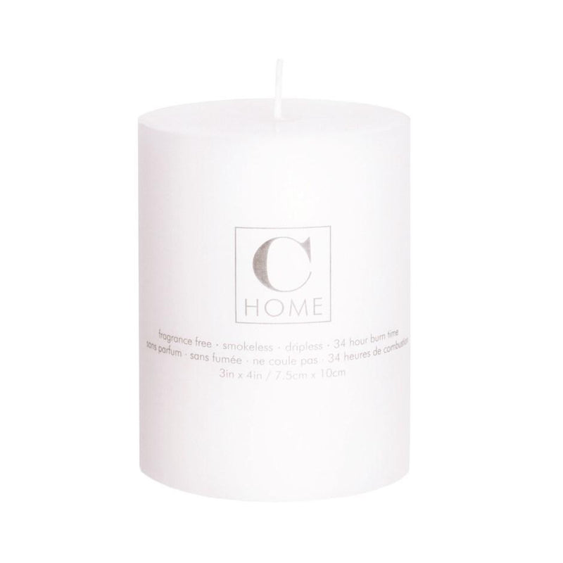Classic White Pillar Candles - Home Smith