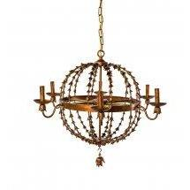 Copper Trumpet Vine Chandelier-Blue Ocean Traders-Home Smith