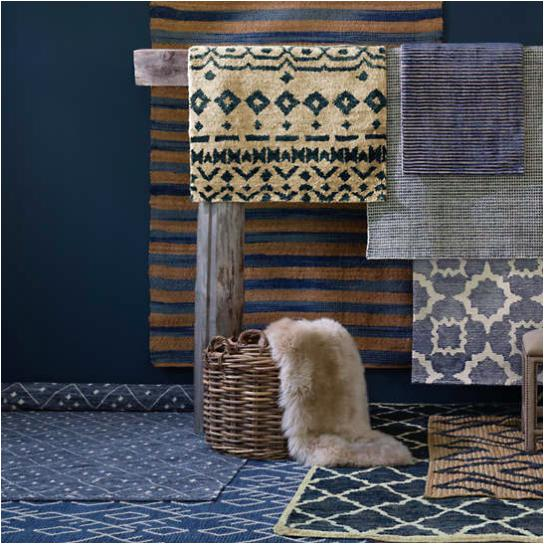 Corfu Blue Woven Jute Rug - Home Smith