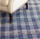 Denim Plaid Woven Cotton Rug-Dash & Albert-Home Smith