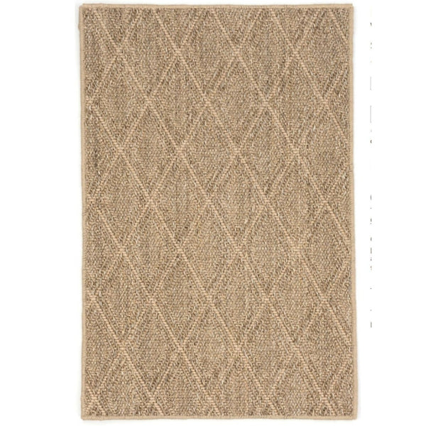 Diamond Sisal Woven Rug - Natural - Home Smith