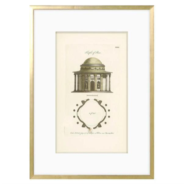 Engraving - Temple of Peace 1778 - Home Smith