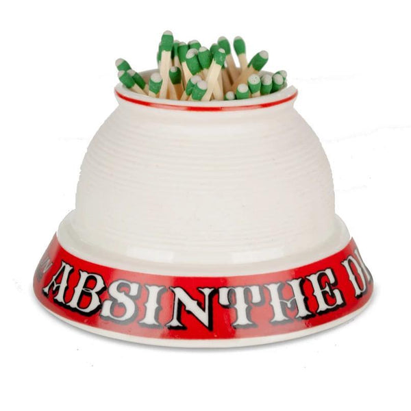 French Porcelain Match Strike - Absinthe Dicharry-Bonnecaze-Home Smith