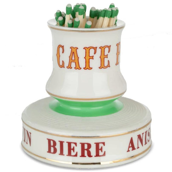 French Porcelain Match Strike - Cafe Paris - Home Smith