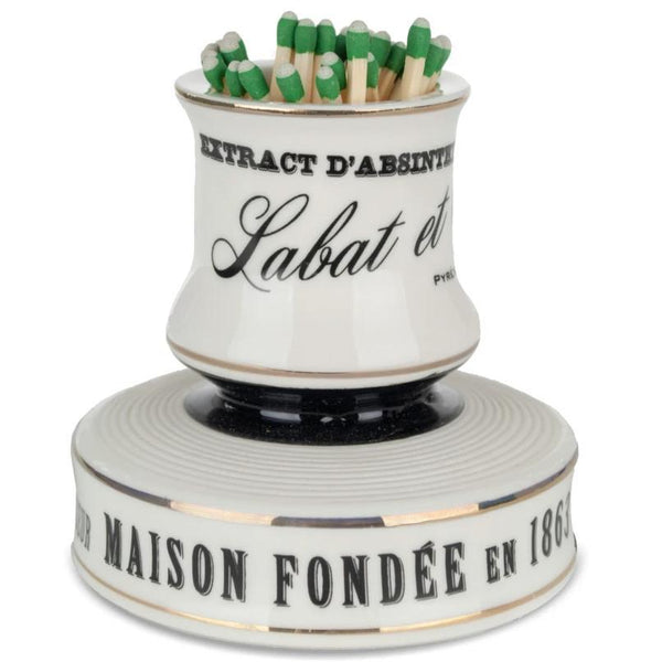 French Porcelain Match Strike - Labat & Fils-Bonnecaze-Home Smith