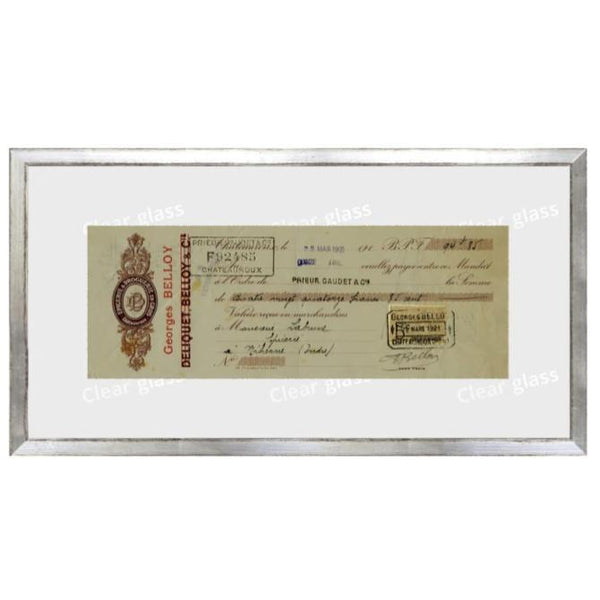 """French Receipt II"" Framed Art 15""x8""-Celadon-Home Smith"