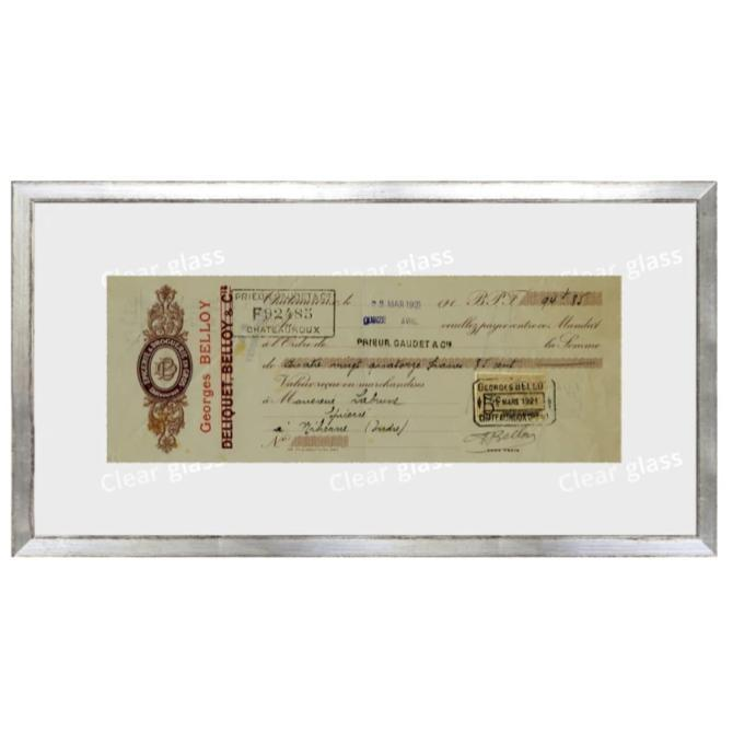 """French Receipt II"" Framed Art 15""x8"" - Home Smith"