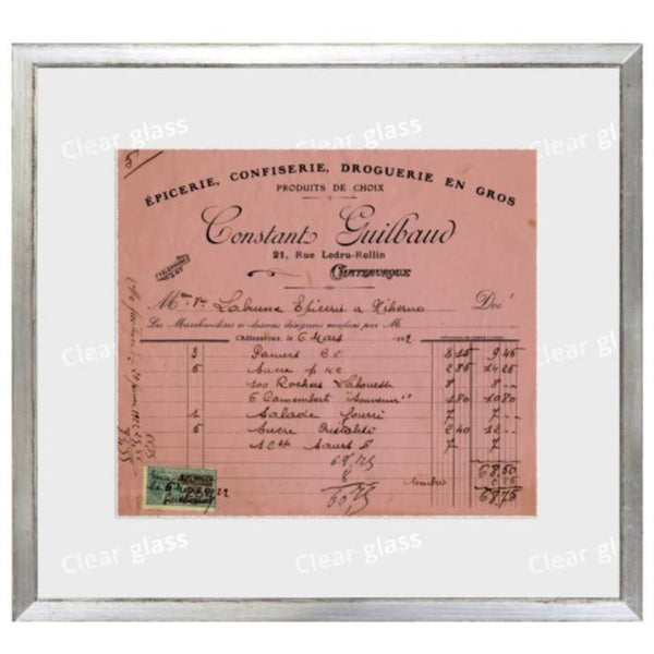 """French Receipt VIII"" Framed Art 12""x11""-Celadon-Home Smith"