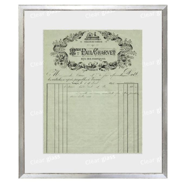 """French Receipt XI"" Framed Art 12""x14""-Celadon-Home Smith"