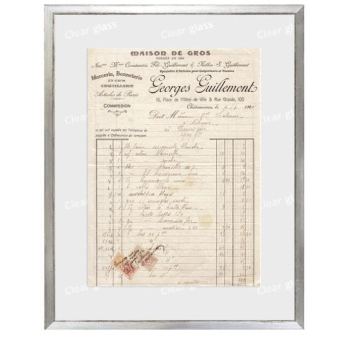 """French Receipt XIV"" Framed Art 12""x15""-Celadon-Home Smith"