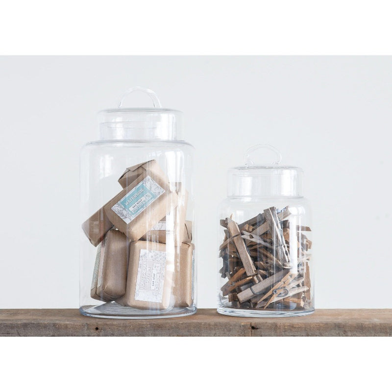 Glass Containers with Lids-Creative Co-Op-Home Smith